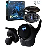SoundWhiz BioniQ True Wireless Earbuds – Bluetooth 5.0 Truly Wireless Headphones. Wireless Earbuds, 20H Play Time with Portable Charging Case. 7 Sizes Ear Bud Tips. Earphones for Sport, Running, Gym