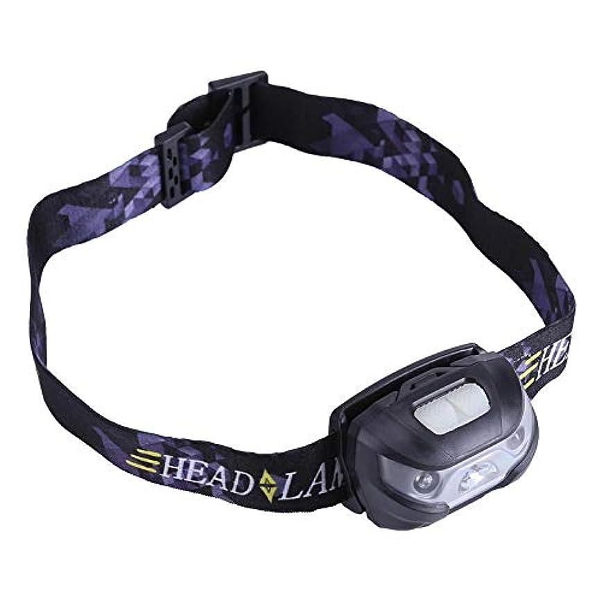 ええ通訳俳優Qiilu ヘッドライト LEDヘッドランプ USB充電式 160ルーメン センサー機能 IPX4防水 小型軽量 角度調整可 登山 キャンプ サイクリング ハイキング 防災 非常時用(グレー)