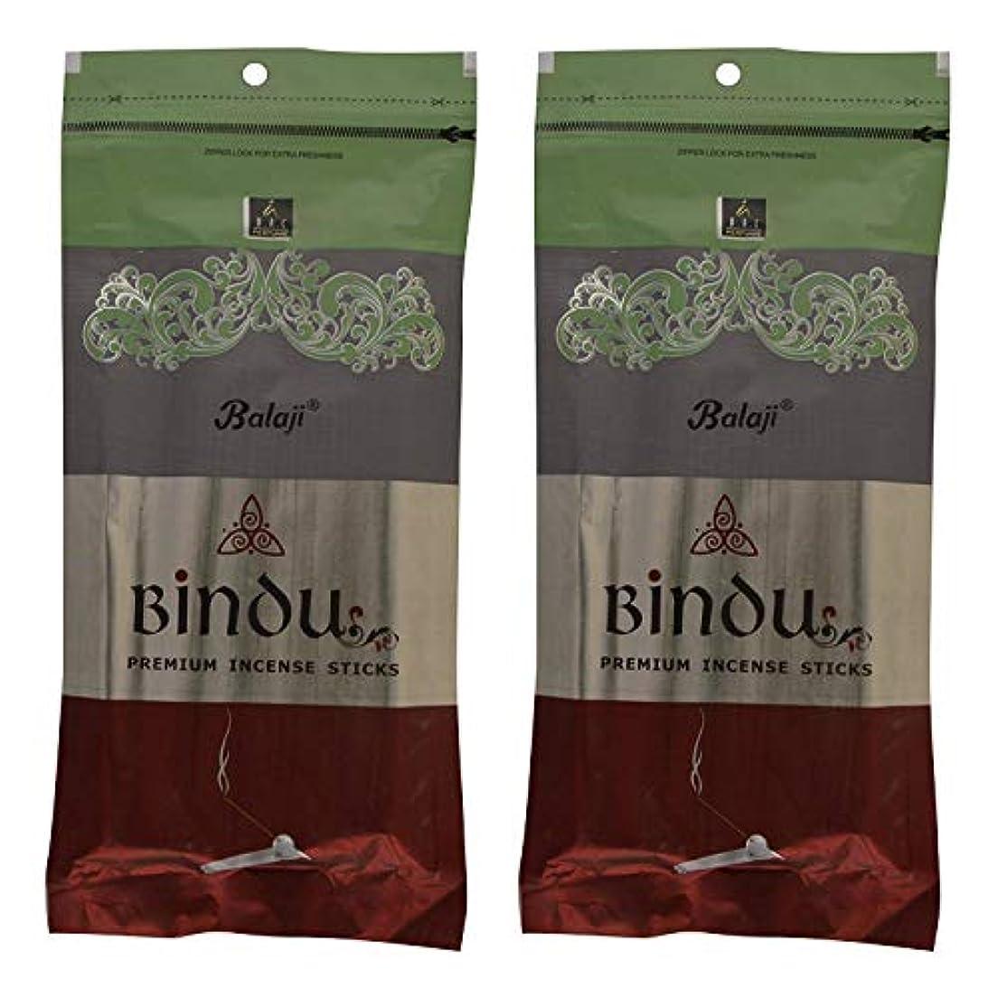 刺繍後世主観的Balaji Bindu Bamboo Incense Sticks (8 cm, 120 g, Black, Pack of 2)
