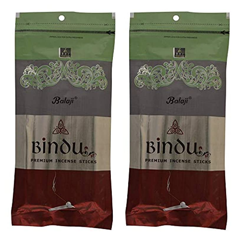 同情的ばかげたパックBalaji Bindu Bamboo Incense Sticks (8 cm, 120 g, Black, Pack of 2)