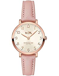 コーチ COACH 腕時計 Women's Ultra Slim Pink Leather Strap Watch 28mm 14502565 [並行輸入品]