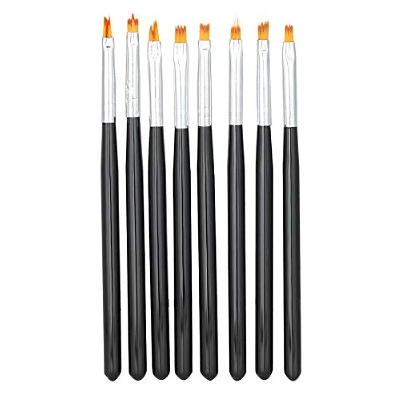 ネイルアートペンブラシセット、8枚花描画絵画花びらグラデーションペンマニキュアツール