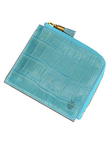 (フェリージ) felisi 968/SA 国内正規品 コンパクト 財布 ライトブルー クロコ型押しレザー