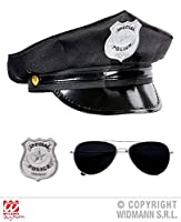 WIDMANN wdm95719 - 警察官セット、黒、ワンサイズ