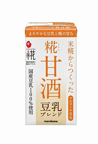 プラス糀 糀甘酒LL 豆乳ブレンド 紙パック 125ml ×18...
