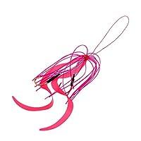 B Baosity シリコン スカート ソフトルアー フック付き 黒魚 サーモン ナマズ 魚キャッチツール 約15cm ピンク