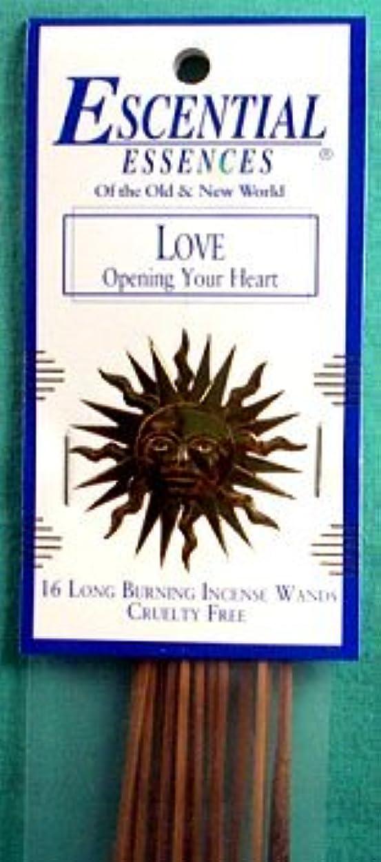 冒険家違法光電Love Escential Essences Incense Sticks