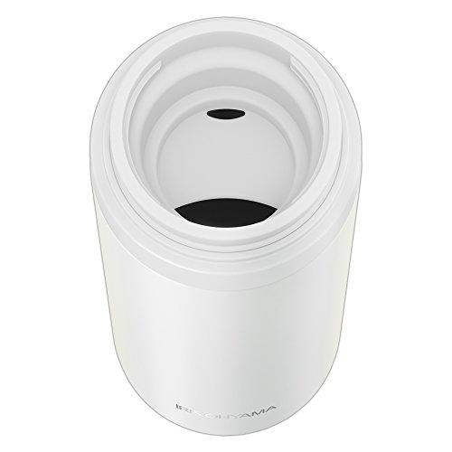 アイリスオーヤマ 水筒 ステンレス マグボトル スクリュー 350ml ホワイト スペアパッキン付 MBS-350