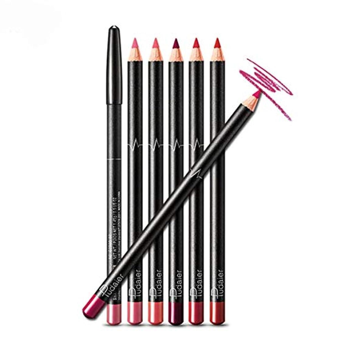 ハロウィン卒業記念アルバム失業Intercorey口紅鉛筆滑らかな防水耐久性非褪色リップライナー鉛筆