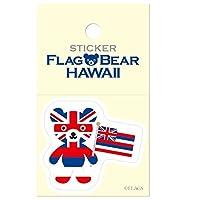ムーングラフィックス ステッカー 国旗 クマ ハワイ S FBS28