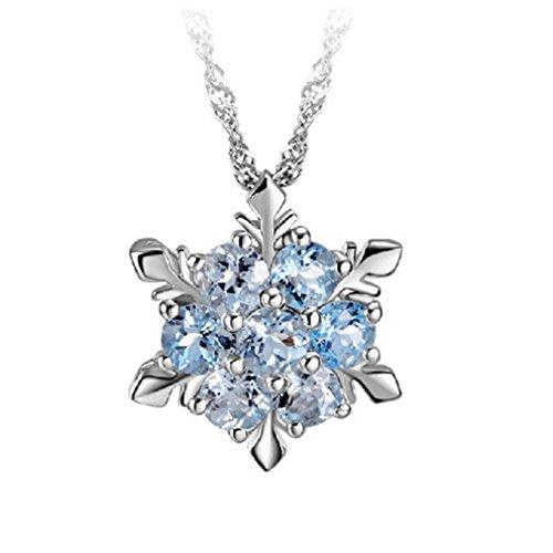 BEE&BLUE レディースネックレス スノーフレークペンダント 雪の花 優雅 ジルコン結晶 お洒落 自用 女性 記念日 プレゼント 贈り物