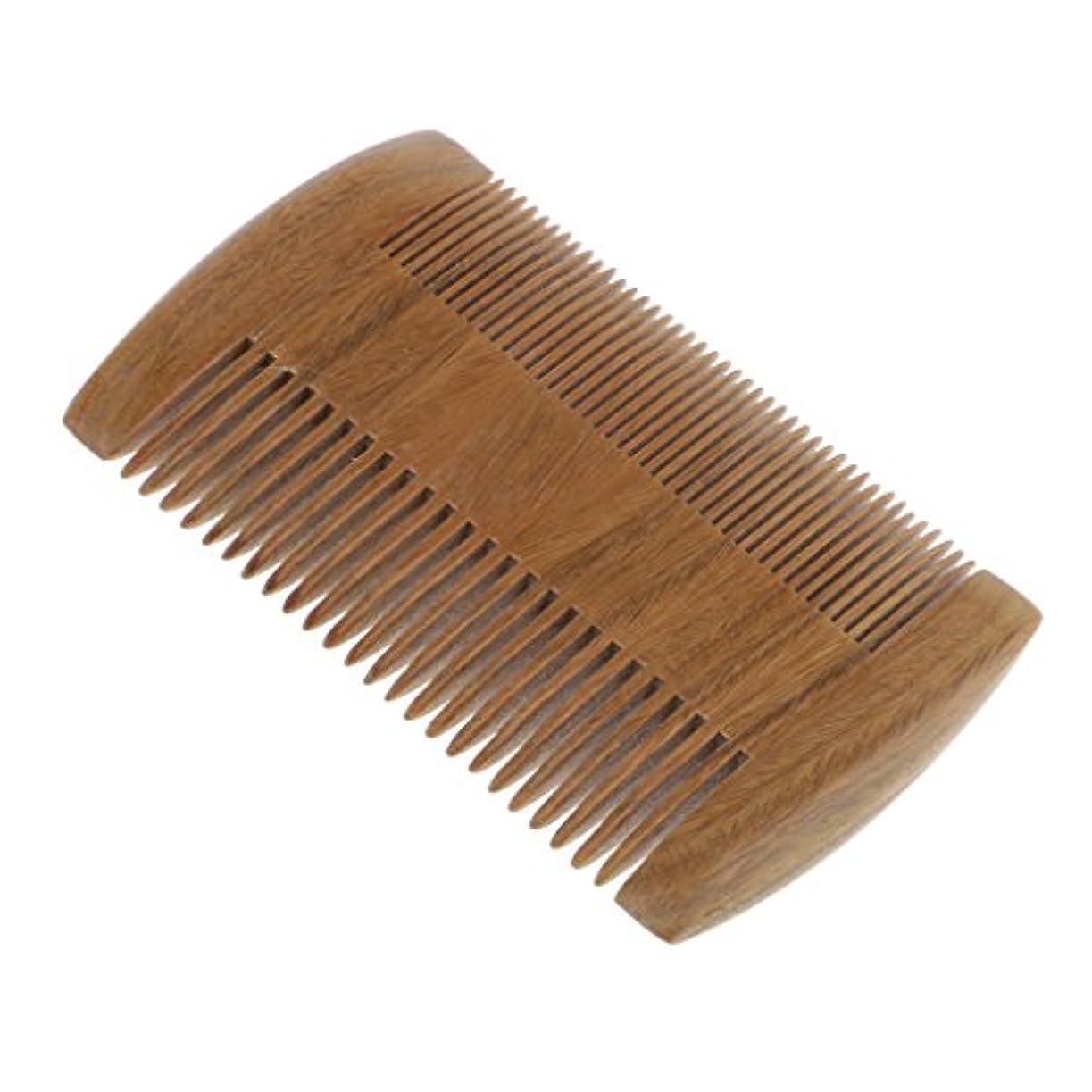 シンジケート国際ピービッシュ自然な緑の白檀の木製の櫛マッサージ手作りの髪の櫛静的でない - 9.7x6 cm