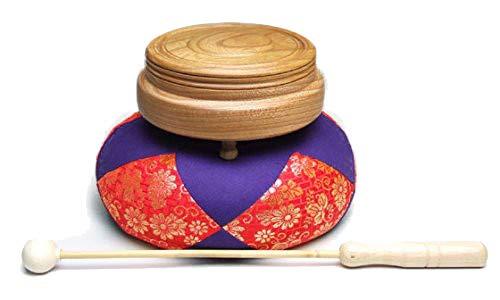 京仏壇はやし 仏具 木柾セット (木鉦セット) 欅 5寸 (日蓮宗 法華宗)