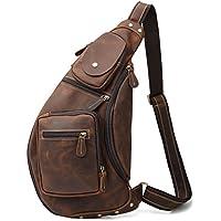 [(チョウギュウ) 潮牛] メンズ 本革 斜め掛けバッグ ボディバッグ ワンショルダーバッグ レザー ヌメ革 牛革 iPad鞄 マチ拡張