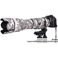 RolanPro シグマ レンズ保護カバー Sigma APO 50-500mm F/4.5-6.3 DG OS HSM用 迷彩レンズ コート [並行輸入品]