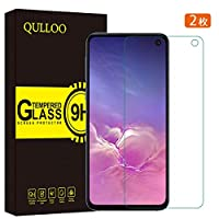QULLOO Samsung Galaxy S10 Plusガラスフィルム 2.5D 全面吸着 保護フィルム 耐衝撃 硬度9H 高透過率 飛散防止 【2枚セット】