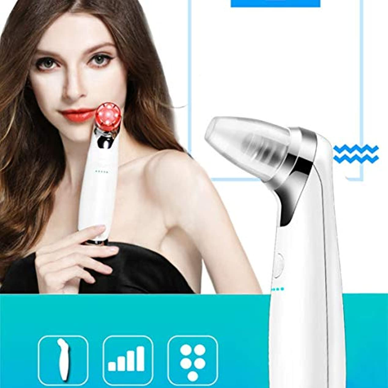 割り当てスクラブ施設Intercorey Pore Vacuum Electric Blackheads Remover Tool Acne Cleanser Suction Extractor Microdermabrasion Machine