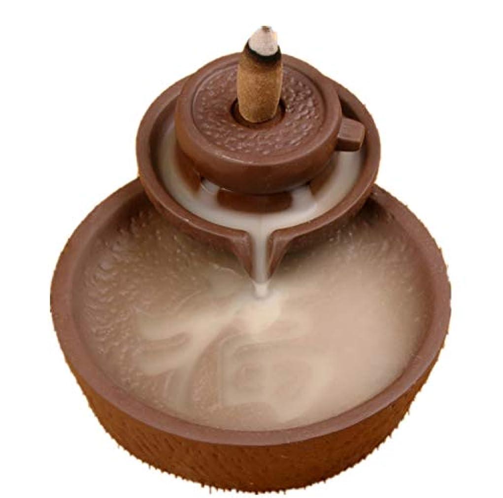 チャット逸脱変換するXPPXPP Backflow Incense Burner With 10pcs Backflow Incense Cone, Home Ceramic Backflow Incense Cone Holder Burner