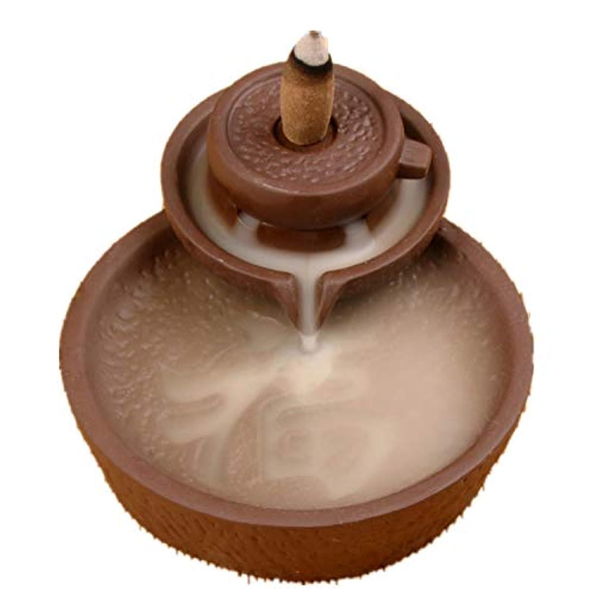 孤独海藻沿ってXPPXPP Backflow Incense Burner With 10pcs Backflow Incense Cone, Home Ceramic Backflow Incense Cone Holder Burner