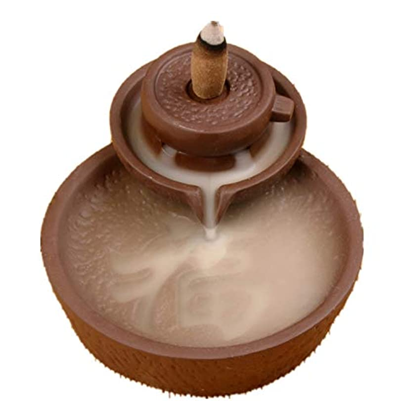 締め切り明るいポスターXPPXPP Backflow Incense Burner With 10pcs Backflow Incense Cone, Home Ceramic Backflow Incense Cone Holder Burner