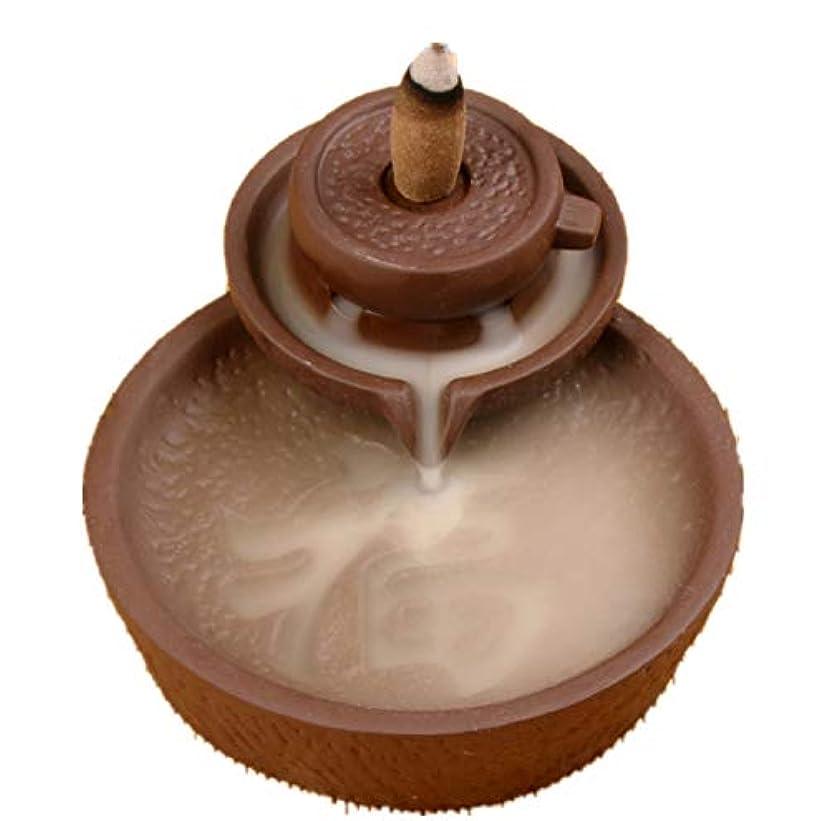 職人イソギンチャク者XPPXPP Backflow Incense Burner With 10pcs Backflow Incense Cone, Home Ceramic Backflow Incense Cone Holder Burner