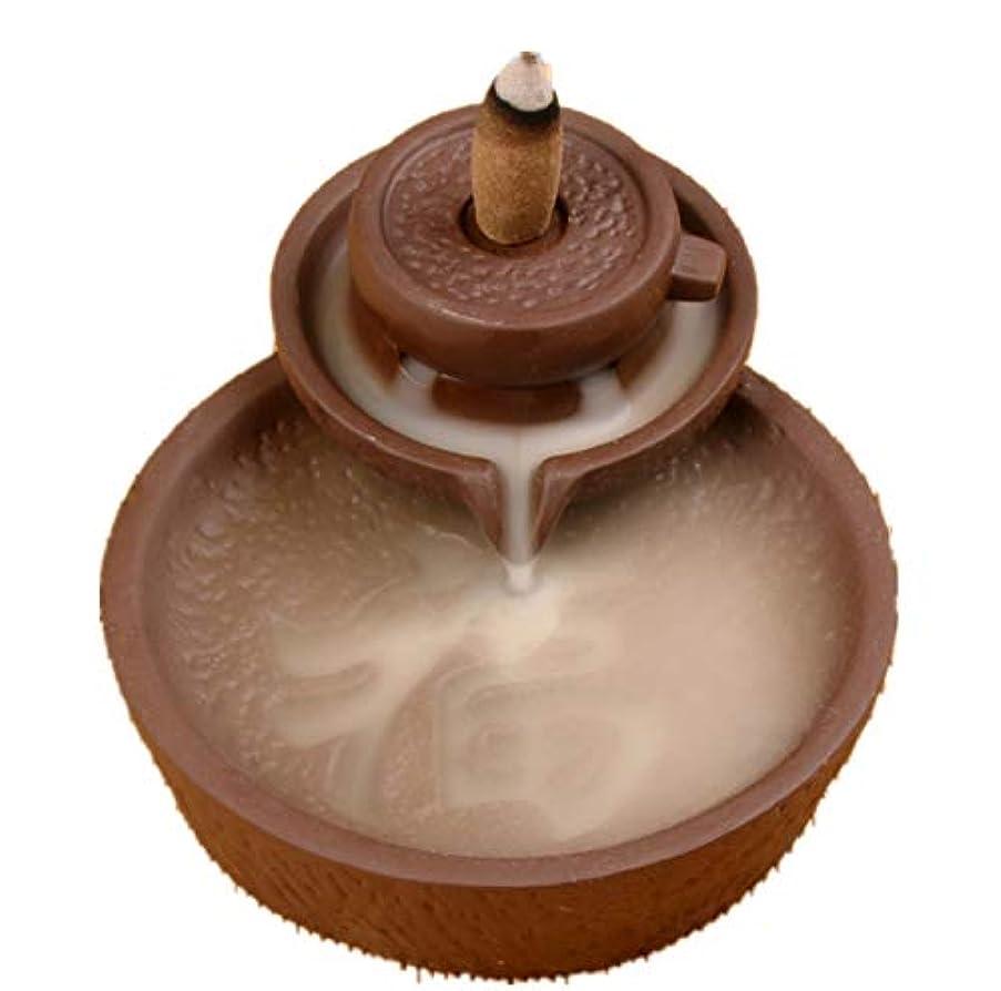 クレジット電圧どっちXPPXPP Backflow Incense Burner With 10pcs Backflow Incense Cone, Home Ceramic Backflow Incense Cone Holder Burner