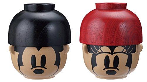 ディズニー 汁椀・茶碗 ペア セット ミッキーマウス & ミニーマウス SAN1911