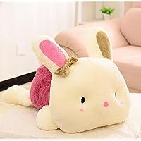 HuaQingPiJu-JP ぬいぐるみぬいぐるみソフトぬいぐるみウサギ人形ぬいぐるみウサギおもちゃウサギキッドギフト(赤、20cm)