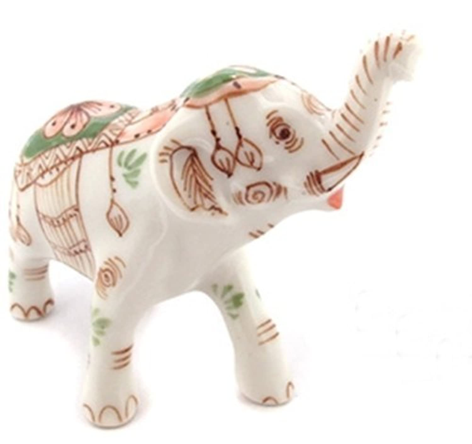 3 D Ceramic Toy Mom Elephant Trunk Up Dollhouse Miniatures Free Ship by ChangThai Design [並行輸入品]