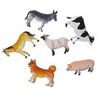 6pcsプラスチック小さなファームの動物動物フィギュアモデルコレクションおもちゃギフト