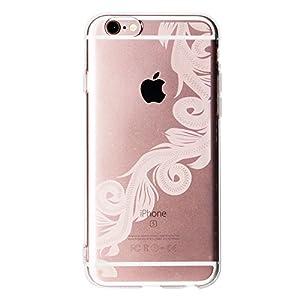 オウルテック iPhone6s/6 4.7インチ ソフトTPUケース ハワイアンシリーズ ストリームライン柄 クリア OWL-CVIP617SL-CL