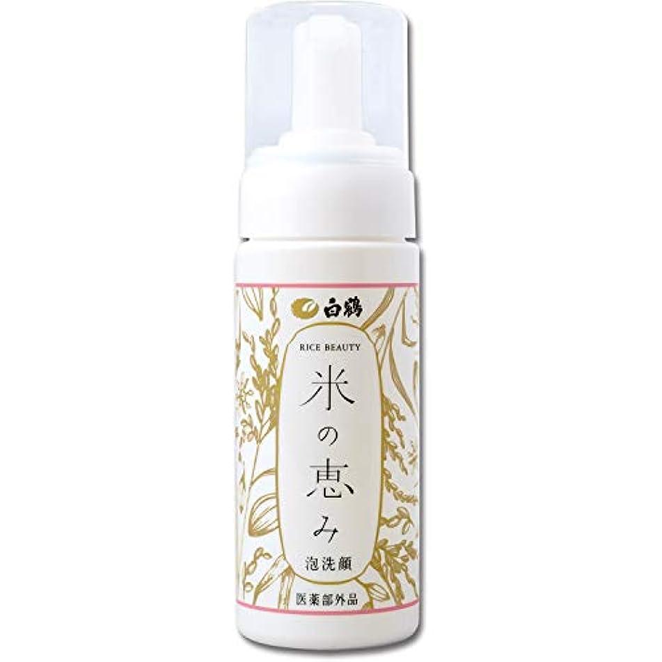 頬誘惑強風白鶴 ライスビューティー 米の恵み 泡洗顔 150ml (医薬部外品)