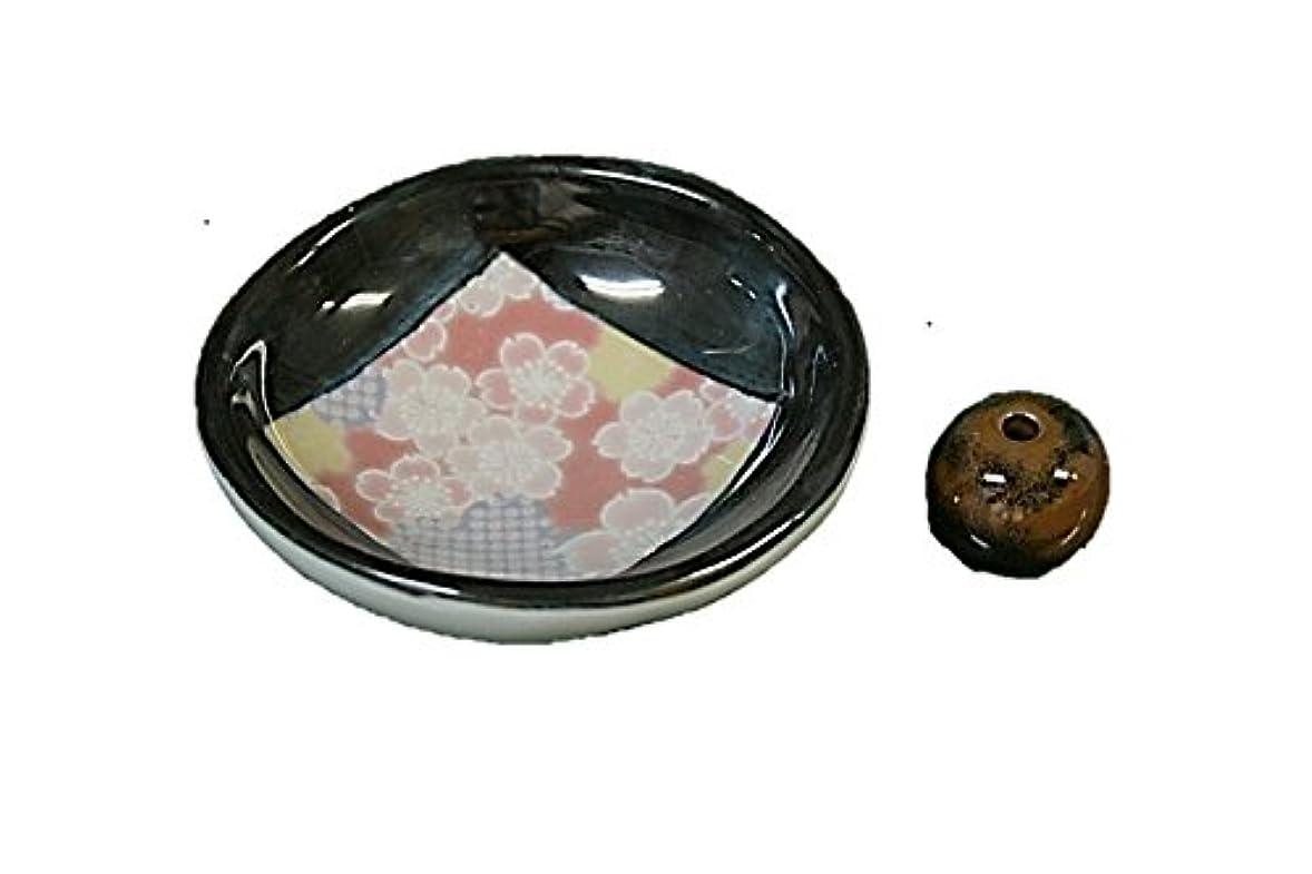 メディカルほのめかす地味な花縮緬 お香たて 製造直売品 お香立 日本製