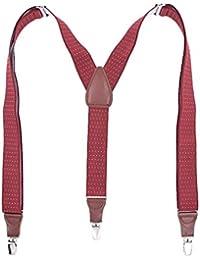COMVIP 吊りバンド メンズ ファッション サスペンダー ショルダー クリップ3個 ズボンつり ビジネス カジュアル