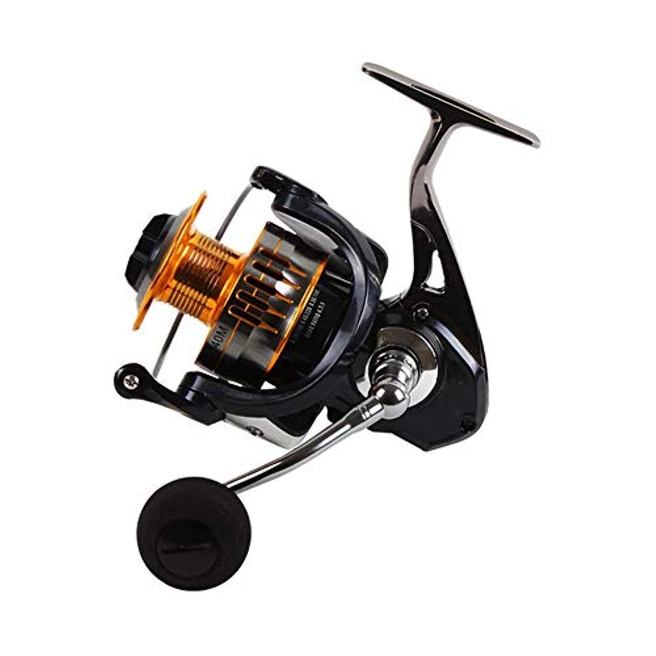 パラダイス理論金曜日リール リール軽量は淡水と海水の釣りのために左/右交換高速スピニングリールを滑らかスピニング スピニングリール (色 : Black, Size : 7000)