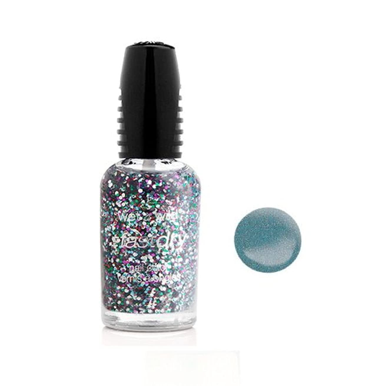 すぐに荒らす香港WET N WILD Fastdry Nail Color - Blue Wants To Be A Millionaire (並行輸入品)