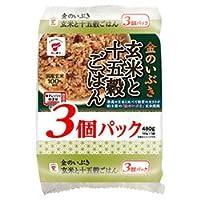 たいまつ食品 金のいぶき 玄米と十五穀ごはん 3個パック (160g×3個)×8袋入