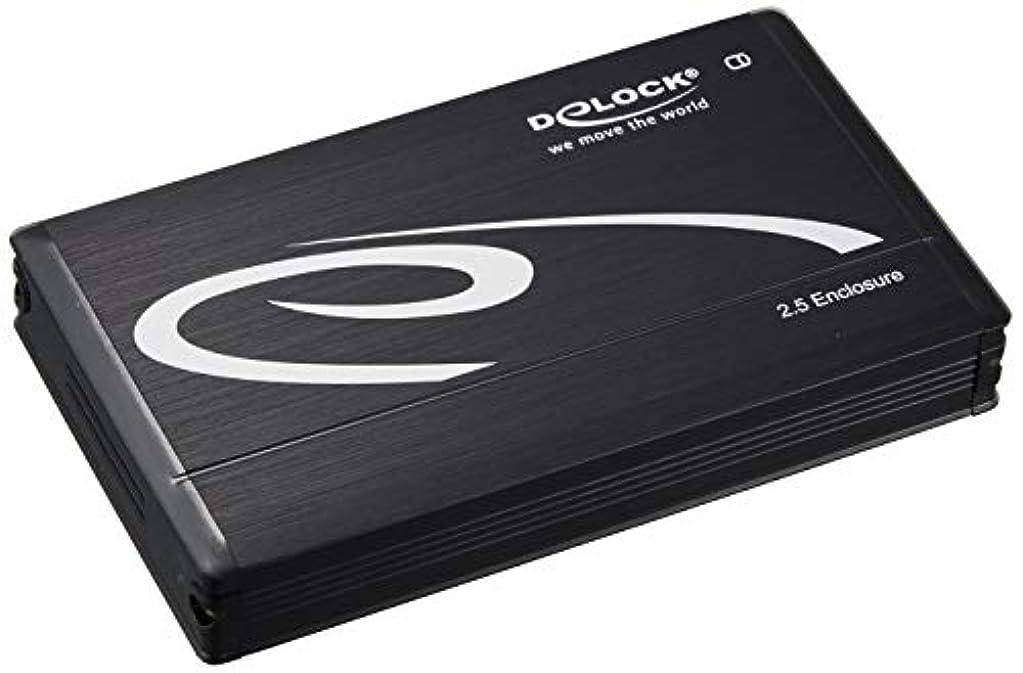 陽気な可能雹Delock 2.5 インチ SATA HDD (15mm) ⇔ USB 3.0 + eSATAp 外付け エンクロージャー 5種ポート対応 BLACK 42544