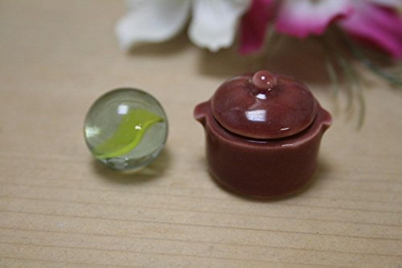 日本製 美濃焼 陶器 ES 鍋 (あずき色) ミニチュア陶器 ミニチュア食器  ACSWEBSHOPオリジナル