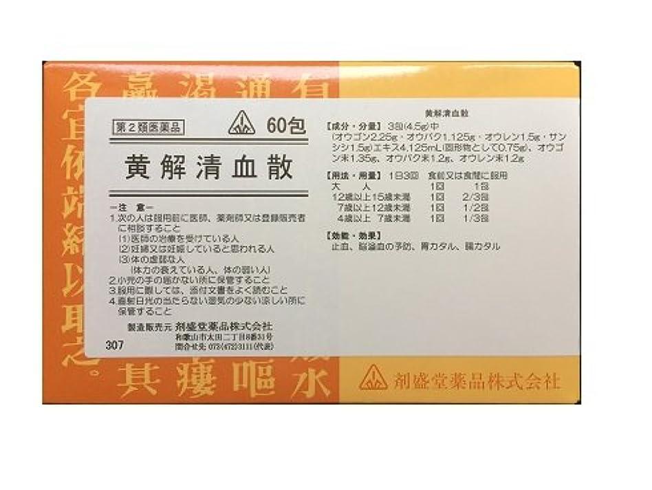 の前でアンカーシート【第2類医薬品】剤盛堂薬品ホノミ漢方 黄解清血散おうげせいけつさん60包