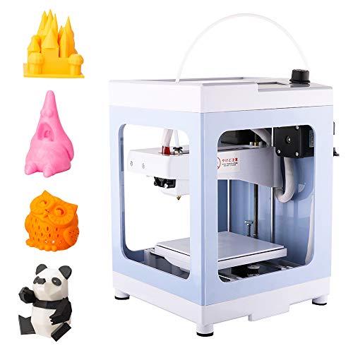 3Dプリンタ 本体 完成品 小型 家庭用 3Dプリンター 組立て済み 軽量 コンパクト PLAフィラメント 造形サイズ11×11×12.5cm 日本語マニュアル&日本語メニュー 初心者 (薄い青)