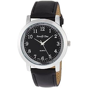 [アリアス]ALIAS 腕時計 アナログ アマルフィ 3気圧防水 革ベルト ブラック A31M14 メンズ