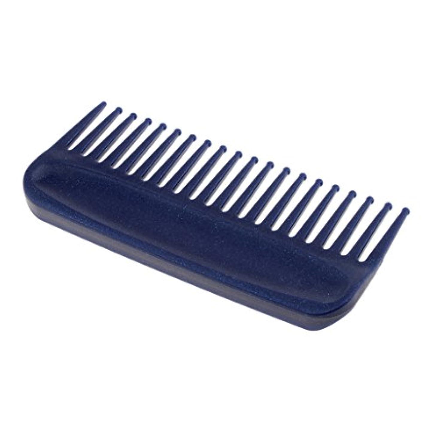週末根拠マウスピースInjoyo サロンヘアケアもつれを解く髪の櫛、ヘアブラシアンチスタティック広歯櫛ポケット6 - 青