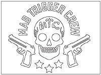 MAD TRIGGER CREW カッティングステッカー〈L〉白