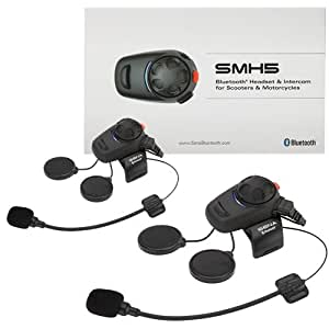 SENA SMH5D-01 DUAL(2台)パック フルフェイス&ジェットヘル両対応バイク用インカム コネクタ抜け対策済 Bluetooth3.0 技適マーク(TELEC)認証済 インターコム US輸入版