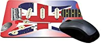 Rikki Knight Electric Guitar with a Union Jack Scratchplate Design Lightning Series Gaming Mouse Pad (MPSQ-RK-45075) [並行輸入品]