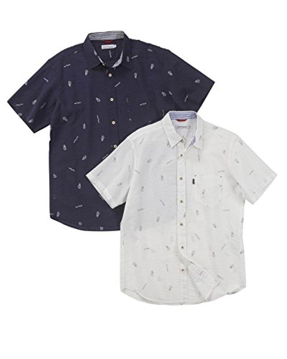施しなしで貢献する[ハッシュパピー]Hush Puppies(ハッシュパピー)60ローンドックプリントシャツ