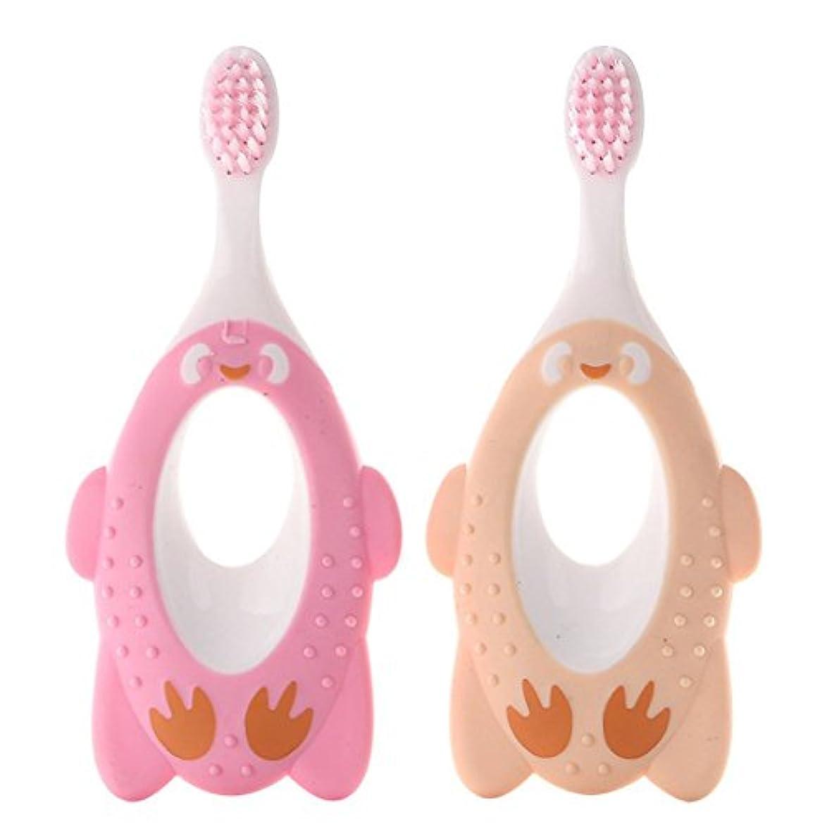 失望させるレンドコミット歯ブラシ ハブラシ 園児用 子供 子ども オーラルケア 歯が生えはじめたらお口のケア(色のランダム)