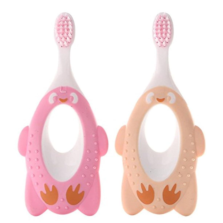 歯ブラシ ハブラシ 園児用 子供 子ども オーラルケア 歯が生えはじめたらお口のケア(色のランダム)