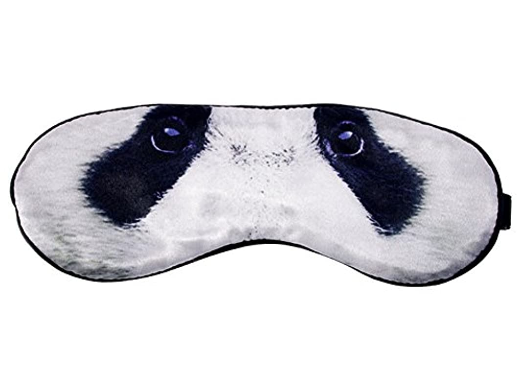 護衛スピリチュアルパノラマ旅行や昼寝のための睡眠用弾性アイシェード目隠し用クールパンダシルクアイマスク